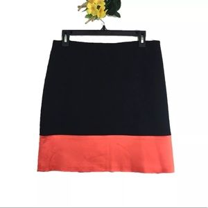 Ann Taylor Color Block Lined Career Skirt | Size 8